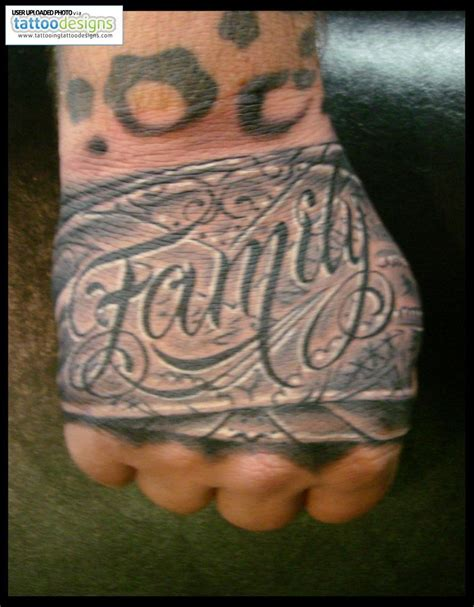 tattoo on hand family hand tattoo images designs