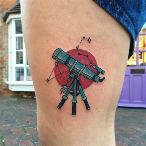 telescope tattoo 1000 ideas about astrology on ear