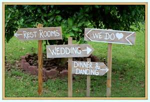 country wedding signs with stakes outdoor wedding