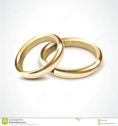 Wedding Ring Vector by Vector Gold Wedding Rings Isolated Stock Vector Image