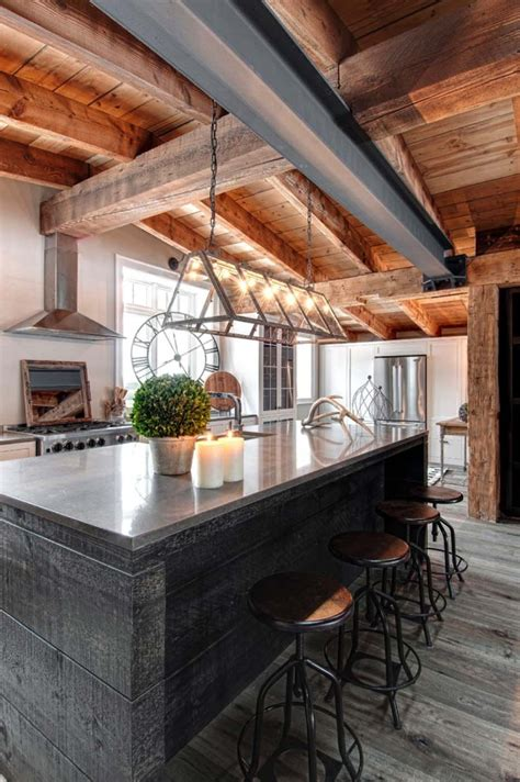 contemporary rustic decor luxury canadian home reveals splendid rustic modern aesthetic