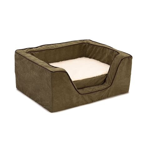 square dog bed luxury square dog bed with memory foam by snoozer pet products
