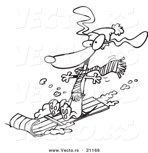 sledding coloring page dog sledding down hill sled dogs clipart 40