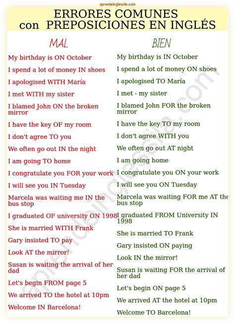 libro uso de las preposiciones 20 errores comunes con las preposiciones en ingl 233 s pdf