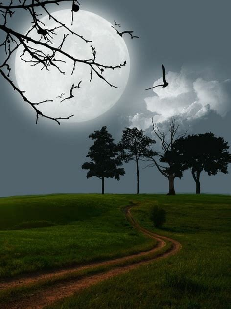 gambar bulan indah  malam kumpulan gambar