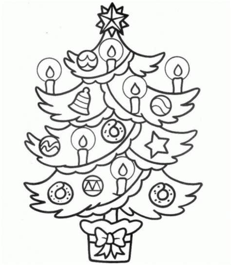 imagenes de navidad sin color arbol de navidad para colorear