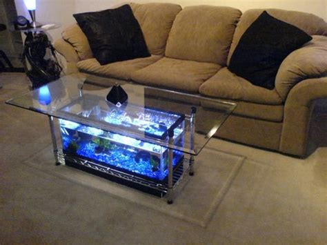 Aquarium Coffee Table Diy Diy Fish Tank Coffee Table Living Room Wonderfuldiy