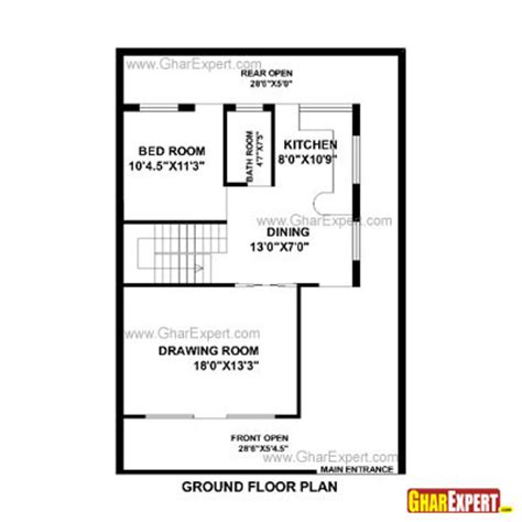 house design for 15 feet by 30 feet plot gharexpert house plan for 30 feet by 44 feet plot plot size 147