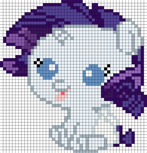 my pony perler bead patterns my pony newborn rarity perler bead pattern bead