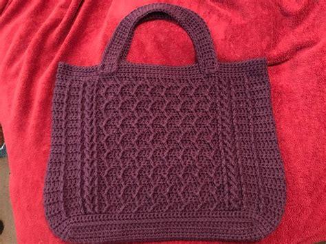 crochet zig zag purse pattern cabled zig zag bag crochet pattern