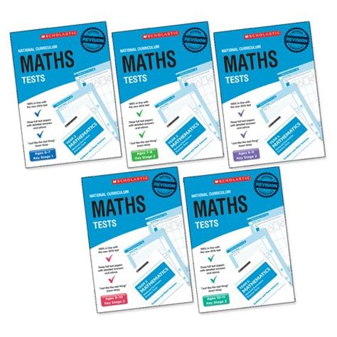 libro national curriculum maths practice national curriculum sats tests maths tests years 2 6 set x 6 30 books scholastic shop