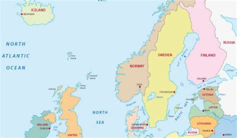 map northern europe countries the countries of northern europe worldatlas
