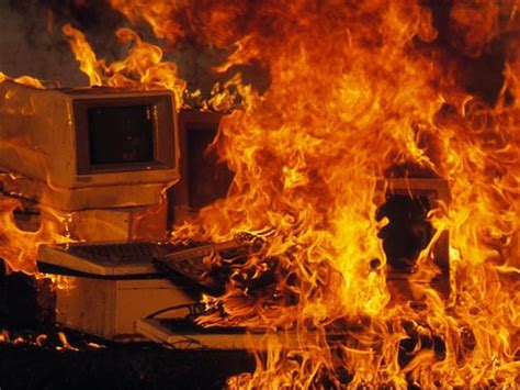 Computer Fireplace by Hackers Can Set Your Printer On The Daily Waster