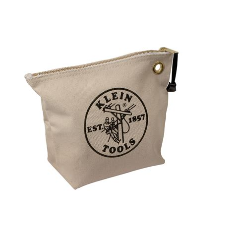 canvas zipper tool bag canvas zipper bag consumables natural 5539nat klein