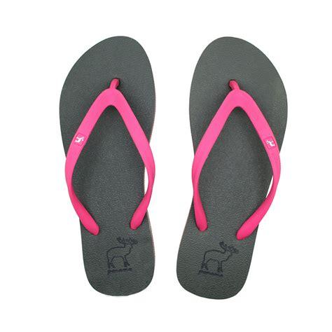 sandal panama sendal jepit wanita hijau tua pink