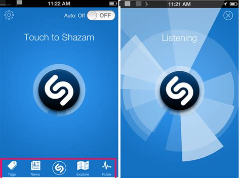 shazam app android shazam free iphone app to identify songs