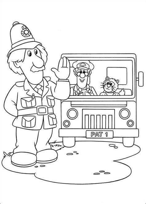coloring page postman pat coloring pages 17