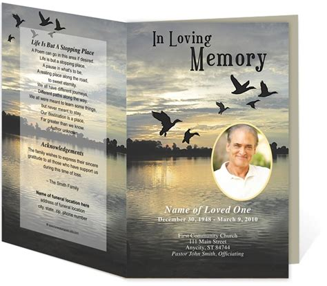 funeral bulletin templates pin by carole galassi on creative memorials with funeral