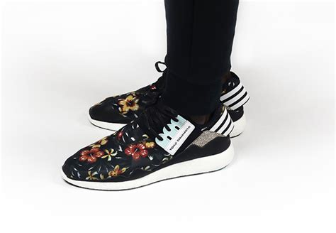 Y3 Yohji Qasa High Sneakers In Black Floral Real 11 Best Quality a detailed look at the adidas y 3 quot floral quot pack sneakernews