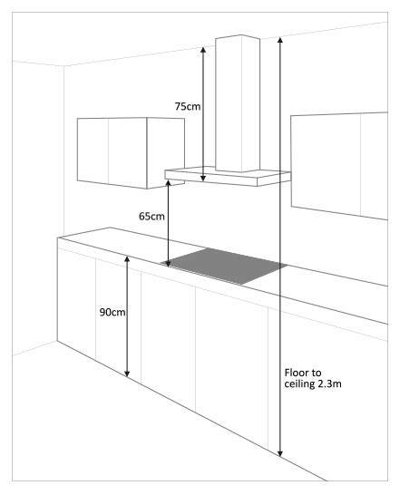 Kitchen Island Heights by Chimney Cooker Hoods For Low Ceilings Best Designer Cooker