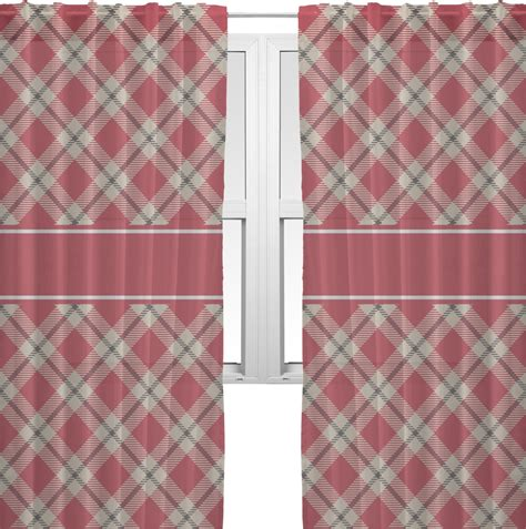 red and tan curtains red tan plaid sheer curtains 60 quot x84 quot personalized