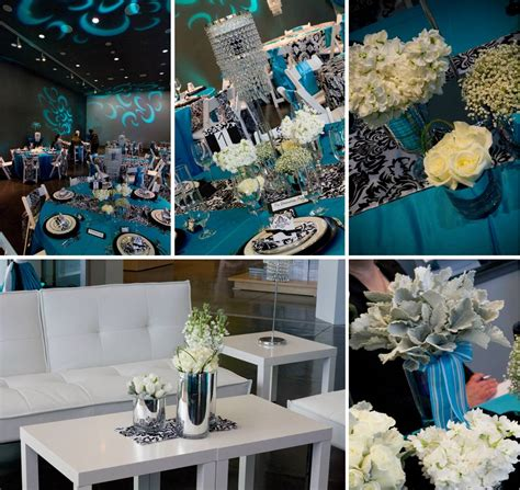 turquoise with black white damask jen s blossoms