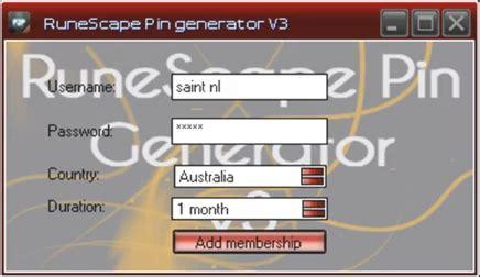 runescape card template free runescape pin codes