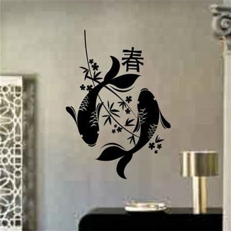 japanese koi wall decal asian style decoration wall decal quotes japanese wall art cool japanese