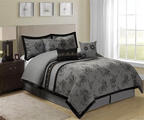 queen bed in a bag sets 7 piece shasta gray bed in a bag comforter sets queen