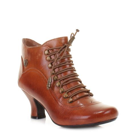 womens hush puppies vivianna leather lace up vintage