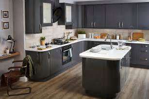 Kitchen Design B And Q by It Santini Gloss Anthracite Slab Diy At B Amp Q