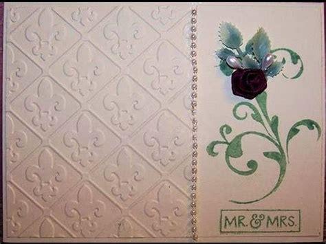 Handmade Wedding Cards Sle - embossed handmade wedding card