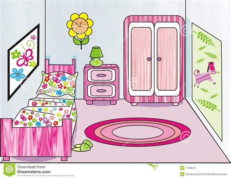 clip art bedroom room clipart kids bedroom pencil and in color room