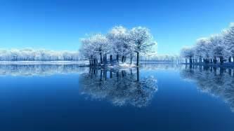 Hd winter water reflection wallpaper download free 139875