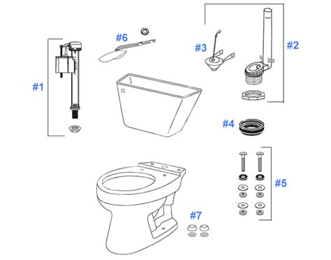 Toto Plumbing Parts by Toto Dalton Toilet Replacement Parts