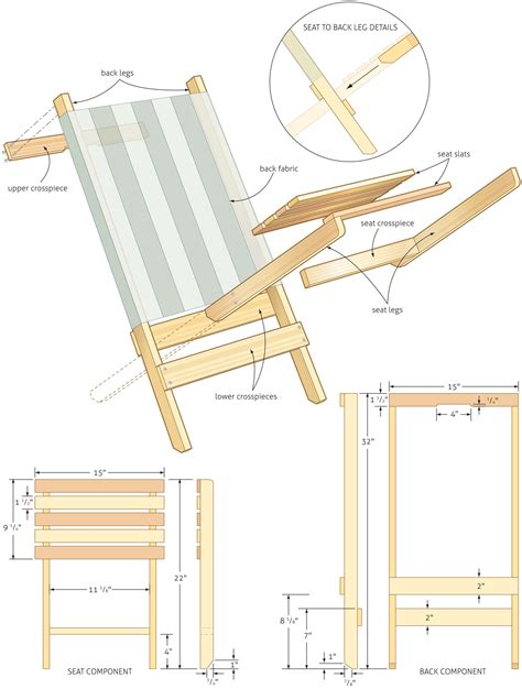 deck chair template folding chair canadian home workshop