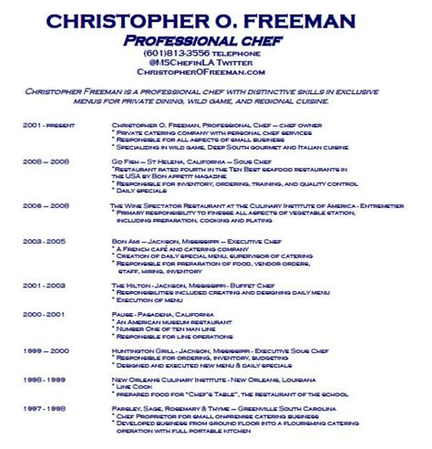 commis chef description resume 28 images chef resume