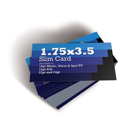 Slim Business Card Template by 500 1 75x3 5 Slim Business Cards Premium Business Card
