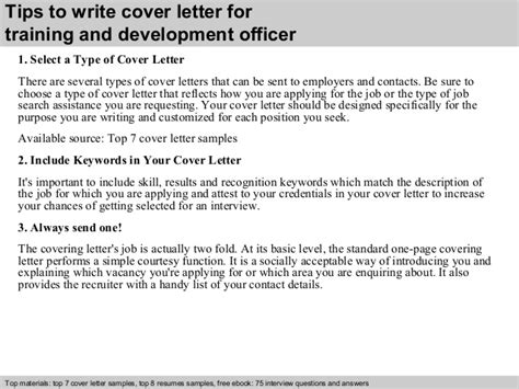Course Developer Cover Letter by And Development Officer Cover Letter