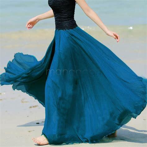 fanala autumn skirts 2017 chiffon maxi skirts