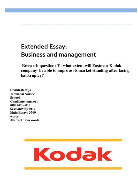 extended essay business and management sle drishti 1