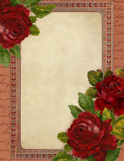 printable romantic stationery romantic red roses free printable stationery graphics