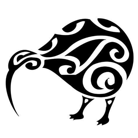 kiwi tribal tattoos kiwi bird clipart best