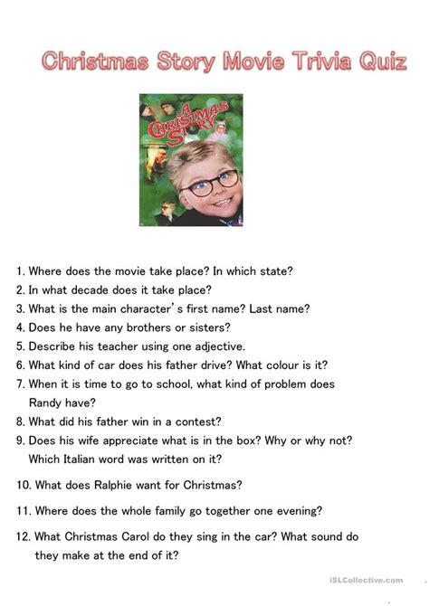 printable christmas movie quiz christmas story movie trivia quiz worksheet free esl