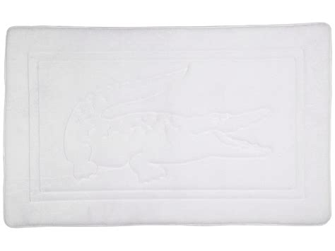 lacoste memory foam bath rug white shipped free at zappos