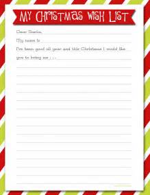 Printable Christmas Wish List Template Delightful Order Christmas Wish List Free Printable