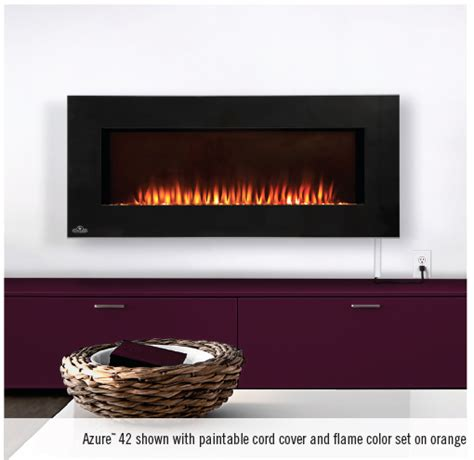 built in wall mount fireplace napoleon efl42h azure built in wall mount electric