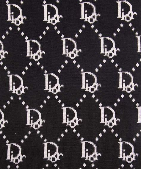 Dior Pattern Name | christian dior unisex logo scarf in black designer