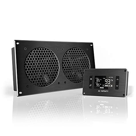 av receiver cabinet system dual fan thermostat ac infinity aircom s7 quiet fan system 12 for