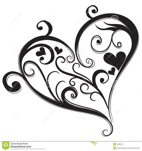 imagenes blanco y negro corazones coraz 243 n negro abstracto stock de ilustraci 243 n ilustraci 243 n